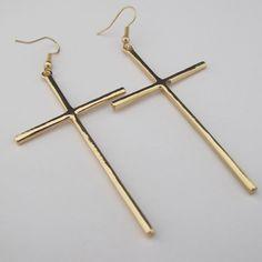 ES006 Старинные золотые Silver Cross 2013 новых серьги падение мода для женщин TT-2,99 1.79