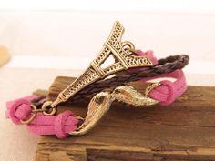 Mustasche and Eiffel cuff bracelet {br-158} | Trinketsforkeeps
