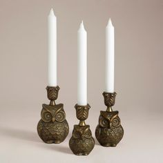 Owl Metal Candleholder Collection - eclectic - candles and candle holders - World Market