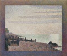 MoMA | Georges-Pierre Seurat. Evening, Honfleur. 1886