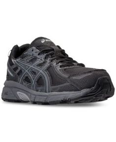 Asics Men's Gel-Venture 6 Wide Trail Running Sneakers from Finish Line - Black 11.5
