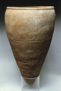 Rough Ware Storage Jar  --  Circa 3500-3300 BCE  --  Predynastic Egypt  --  Pottery  --  The Metropolitan Museum of Art