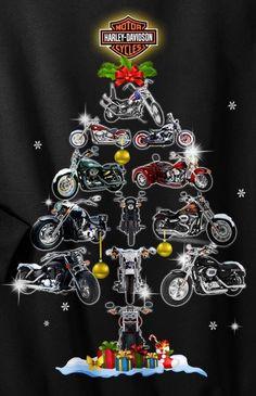 Harley Davidson Logo, Harley Davidson Kunst, Harley Davidson Motorcycles, Motorcycle Art, Bike Art, Motorcycle Quotes, Christmas Art, Christmas Greetings, Christmas Poems
