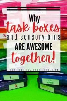 Looking for a way to use your task boxes other than for independent work? Want to get more use out of them throughout the year? Read this blogpost from thekindergartenlife.com and see why task boxes and sensory bins are a match made in heaven! #tpt #teach Dyslexia Activities, Science Activities For Kids, Kindergarten Science, Sensory Activities, Kindergarten Worksheets, Classroom Activities, Learning Activities, Task Boxes, Creative Teaching