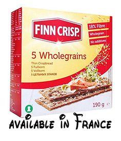 B0758LPF4P : Finn Crispbreads | Five Wholegrains - Thin | 2 x 9 x 190g. Five Wholegrains - Thin. Vegan. Known Barcodes: 6437005058448 6437005058448