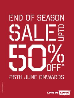 The #Levi's end-of-season sale is here. Get up to 50% off on all your favorite Levi's styles. #ForumCourtyard