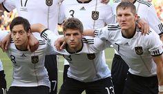 Bastian and Thomas with Mesut Özil. #DieMannschaft