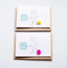 Free printable bunny easter card