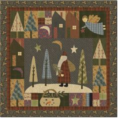 Jan Patek Quilts: Nothing like waiting til the last minute! And 12 Days After Christmas Sale. Christmas Patchwork, Christmas Sewing, Noel Christmas, Christmas Quilting, Father Christmas, Christmas Decor, Primitive Quilts, Wool Quilts, Applique Quilts