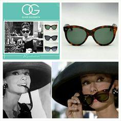 Audrey Hepburn's famous Breakfast At Tiffany's Oliver Goldsmith sunglasses.