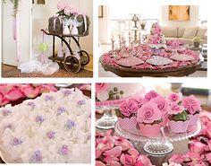 decoração verde e rosa, decoração de casamento