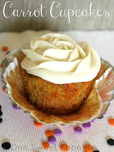Carrot cake wasn't high on my love list until the recipe. Turned into cupcakes and topped with a smooth cream cheese frosting... mmmmmmm