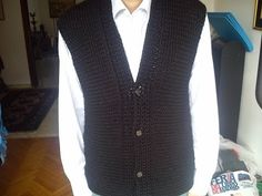 Men's Vest Loom Knitting - YouTube