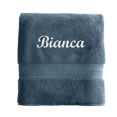 Turkish Hydro Cotton Bath Towel, Porcelain Blue - Personalized