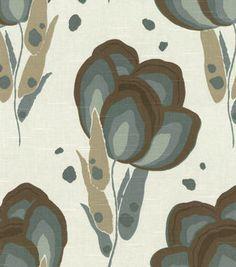 8''x 8'' Home Decor Fabric Swatch-Annie Selke Happy Poppys Slate