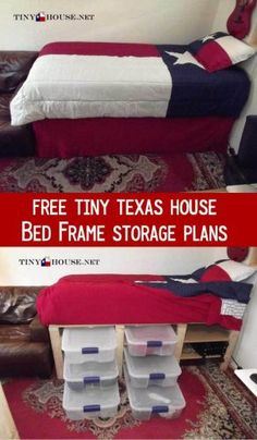 """DIY Project: Free Underbed Storage Plans  for Tiny House -Homesteading  - The Homestead Survival .Com     """"Please Share This Pin"""""""
