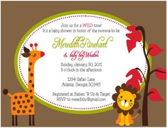 Little Lion Giraffe Baby Shower Invitation Wording Oval Baby Shower Invite Template Ideas.