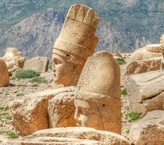 Heads of Mount Nemrut - Suspected to date from the 1st century BC - Located in Turkey