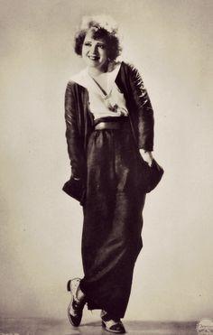 Clara Bow. Daring in trousers.