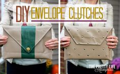 The perfect DIY envelope clutch for date night, iPads, gifts, and lots more! | the Pretty Life Anonymous