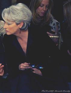 Meryl Streep, Miranda Priestly, Devil Wears Prada, Grey Hair, Best Actress, Stilettos, Hair Trends, Actors & Actresses, Short Hair Styles