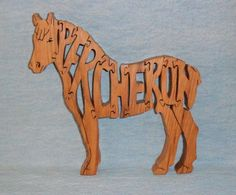 HORSE spelled out scroll saw pattern | Wooden Puzzles