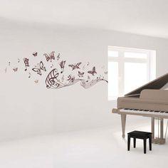 Art Applique Musical Butterflies Decorative Wall Decals - Beyond the Rack
