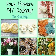 Faux Flowers DIY Roundup on The Shed blog by Pet Scribbles