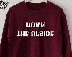 Upside Down Sweatshirt, The Upside Down Sweatshirt, Stranger Things Sweatshirt, Hawkins Middle School AV Club Sweatshirt