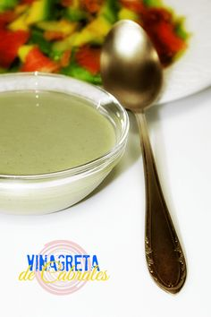 Vinagreta de Cabrales Vinaigrette, Panna Cotta, Dips, Ethnic Recipes, Desserts, Food, Projects, World, Cheese Soup