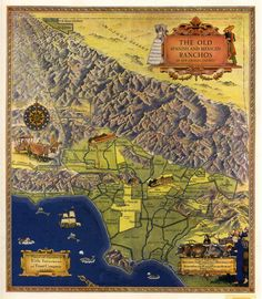 Map of the Old Spanish and Mexican Ranchos of Los Angeles County - Gerald Eddy 1937