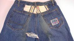 #GetUsed by #Elie #VintageJeans Mens 32 Patchwork 31 x 33 Actual http://etsy.me/1Kfph0Q #90s #vintage #etsy #etsyfind #thefind