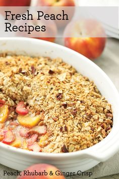 Fresh Peach Recipes from EatingWell.com