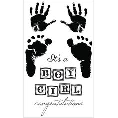 Pitter Patter - Boy & Girl Clear Stamps