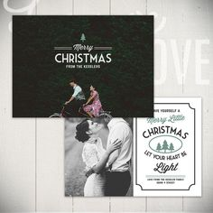 Christmas Card Template: Holiday Classic D - 5x7 Holiday Card Template for Photographers