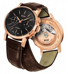 Men's Wrist Watches - Tissot T9044327605100 Heritage 2009 Automatic Rose Gold Mens Leather Watch -- Check this awesome product by going to the link at the image.