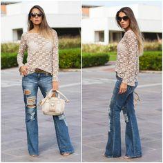 Calça flare, o modelo de calça jeans perfeito para quem gosta de estilo e conforto nas produções ..