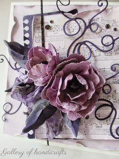 Pierwsze skrzypce gra Soft Collection 2 - pastelowy liliowy fiolet    oraz kwiaty z fioletowego papieru czerpanego Namaste ...