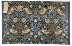 Strawberry Thief, furnishing fabric, 1883 - William Morris