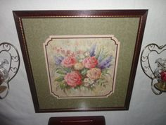Home-Interiors-039-039-Mixed-Flowers-039-039-Picture-Sconces-Shelf-Gorgeous-8pc-Grouping