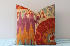 Navajo Nation Ikat in Brandy 18 x 18 by PillowTalkandMore