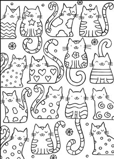 Welcome to Dover Publications #kleurplaat Coloring poes cat kat