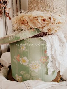 Rose Cottage, Shabby Chic Cottage, Duck Egg Blue And Brown, Vintage Hat Boxes, Growing Up Girl, Shaby Chic, Farm House Colors, Peach And Green, Just Peachy