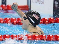 Katie Ledecky wins gold in women's 400 free, breaks her own world record via @USATODAY
