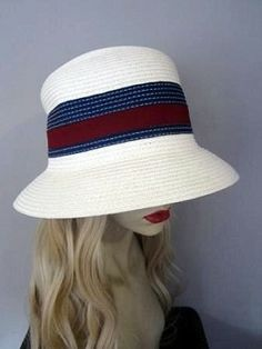 """Straw-colored #Panama Hat  Hair Length: 18"""" Wavy  Hair Color Pictured: Natural Blonde #22 (6 Colors Available) High quality synthetic fiber."""