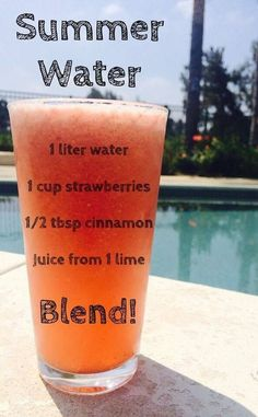 *Summer Water... A refreshing blend of natural fat burners that cools you off…