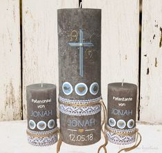 Alpha Omega, Baptism Candle, Rustic Candles, Present Gift, First Communion, Coffee Bottle, Goldfish, Voss Bottle