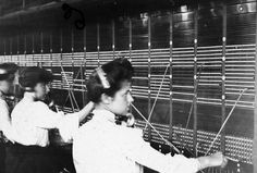 Central Telephone Exchange – telephone operators at a telegraph board Telephones were once under the control of the General Post Office. Telephone Exchange, General Post Office, The Old Days, Royal Mail, Before Us, Back In The Day, Vintage Photography, Family Life, Alter