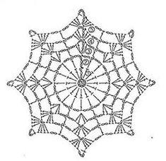 crochet mandala pattern T ii motif rnekleri ve emalar Crochet Snowflake Pattern, Crochet Stars, Crochet Snowflakes, Crochet Doily Patterns, Crochet Round, Thread Crochet, Crochet Doilies, Crochet Stitches, Crochet Christmas Decorations