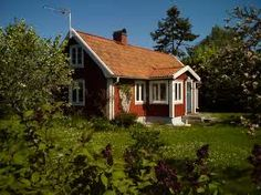 sommarstuga Scandinavian Countries, Scandinavian Home, Little Houses, Small Houses, Red Cottage, Swedish House, Cottages, Exterior, Cabin